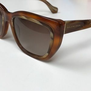 Balenciaga Tortoise Sunglasses